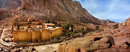 peninsula: Sacred Ekaterinas monastery on Sinaisky peninsula. Egypt.