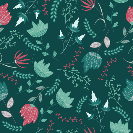 imagery: Floral pattern. Vector illustration