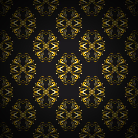 architectural styles: Vintage gold pattern. Vector illustration
