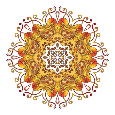Floral gold mandala. Vector illustration