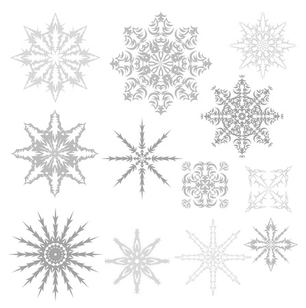 Set of snowflakes. Vector illustration