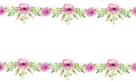 Seamless flowers pattern for invitation