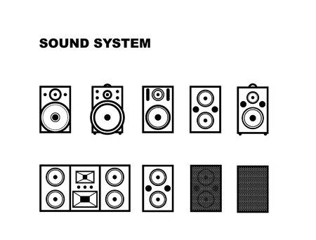 サウンド システム アイコン。