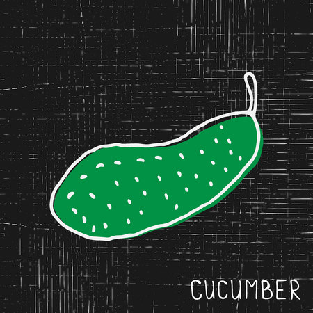 Cucumber on grunge background