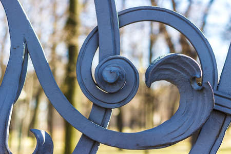 smithery: Fragment of the forged fence of the Mikhailovsky garden