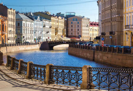 tripartite: Embankment of the Moyka River in Saint Petersburg, Russia