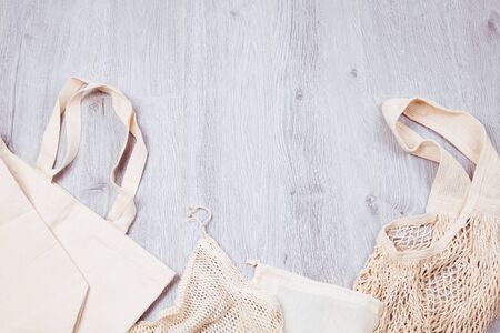 Cotton eco grid bags and for free plastic shopping