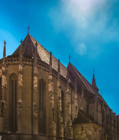 Facade of the Black Church in summer 免版税图像