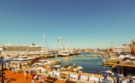 Cape Town - 2011: Victoria & Alfred Waterfront on a sunny day