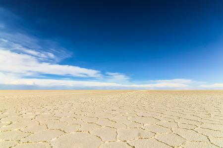 The salt flats in Salar de Uyuni runs 129 kilometers