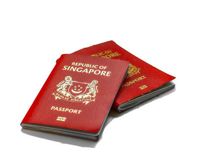 Singapore passport is ranked the most powerful passport in the world with visa-free or visa on arrival access to 189 countries, in conjuction with the passports of Japan and South Korea Zdjęcie Seryjne