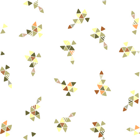 singular: Creative Triangle Pattern With Extraordinary Geometric Shapes And Dots Illustration