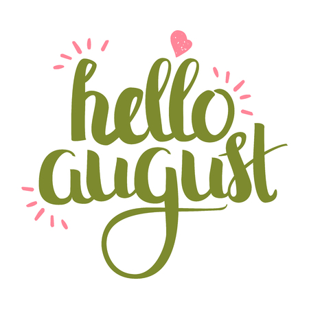 Hand Drawn Lettering - Hello August