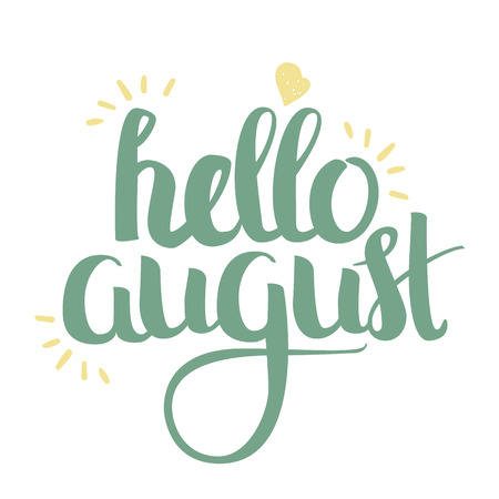 wallpapper: Hand Drawn Lettering - Hello August