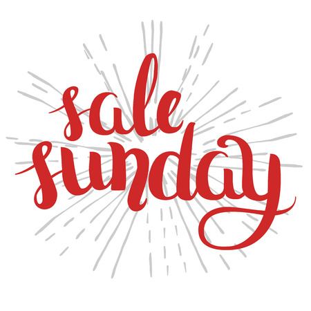 wallpapper: calligraphy in colorful style banners, labels, signs, prints, posters, the web. Sunday sale