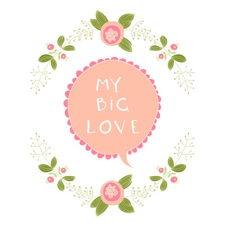 stately: my big love vector Illustration
