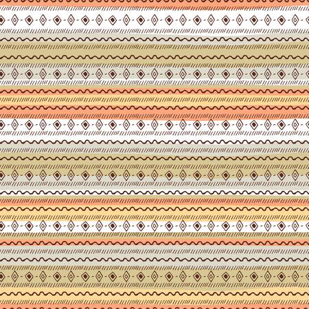 Uncommon Ethnic pattern. Geometric and aztec decor elements. Trendy backgrounds. Vector. Illustration