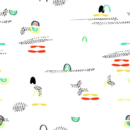 singular: Creative vector pattern with extraordinary abstract shapes and dots Illustration