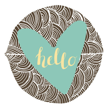 wallpapper: Vector Hand Drawn Lettering, Curves Line, Plants An Dots. Calligraphy for banners, labels, signs, prints, posters, web.Word