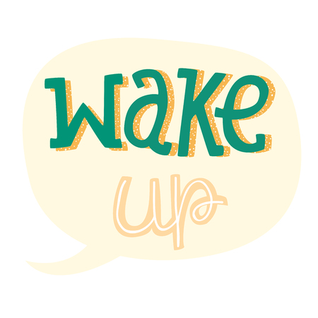 wallpapper: Vector Hand Drawn Lettering, Curves Line, Plants, Stars. Motivation Phase For banners, labels, signs, prints, posters, web, phone case. Wake Up