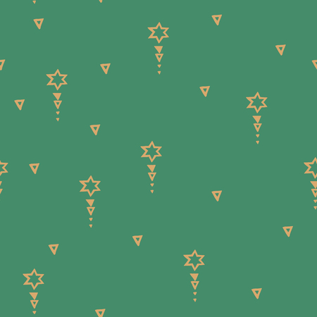 Vector Seamless Hand Drawn Tribal Pattern.Trendy Abstract Doodle With Geometric Decor Elements With Arrows. For Banners, Wallpaper, Posters, Web And Phone Case.