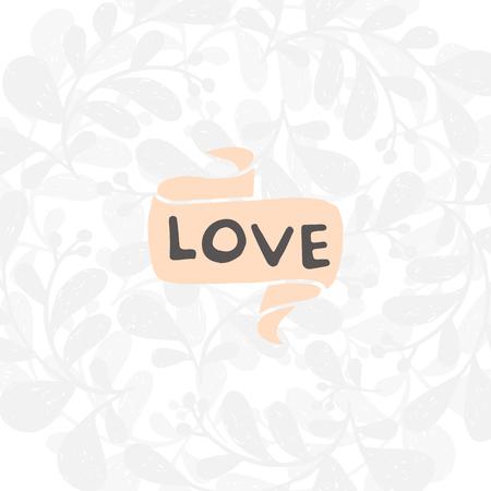 Cute H? E disegnato lettering vettoriale positivo sull'amore. Il pennello di bellezza moderna calligrafia per stampe, poster, cassa del telefono, album, giorno di San Valentino, tipografia di matrimonio. Amore.