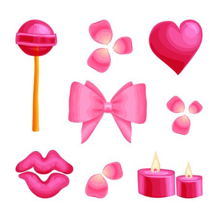 Valentine s day Romantic dating sweet  sticker set Ilustração