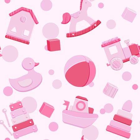 Pink toys icon.