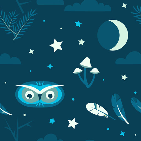 Night forest owl
