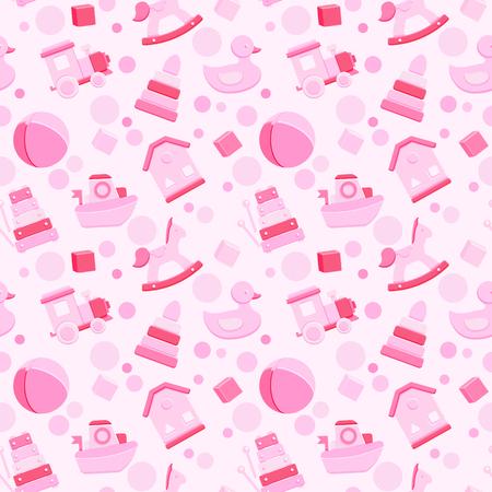 Baby girl toys   pattern Ilustração