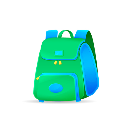 Vector school bag isolated on white background