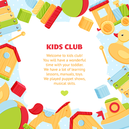 Colorful banner for baby play club