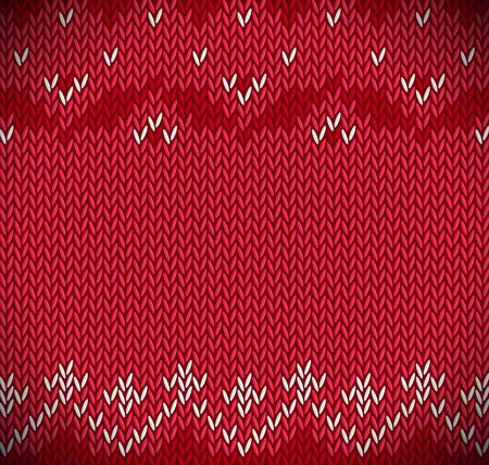 Traditional Fair Isle Style knitted Ilustração