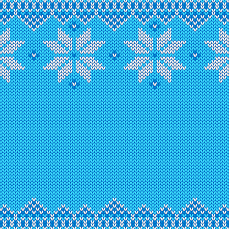 Knitted Christmas and New Year traditional pattern. Imagens - 87905838
