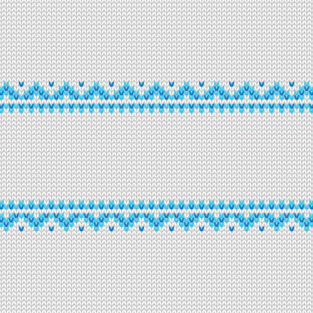 Knitted frame pattern.