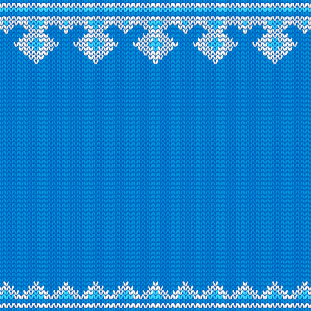 Knitted New Year traditional pattern template. Ilustração