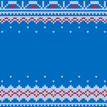 Knitted and New Year traditional background Ilustração
