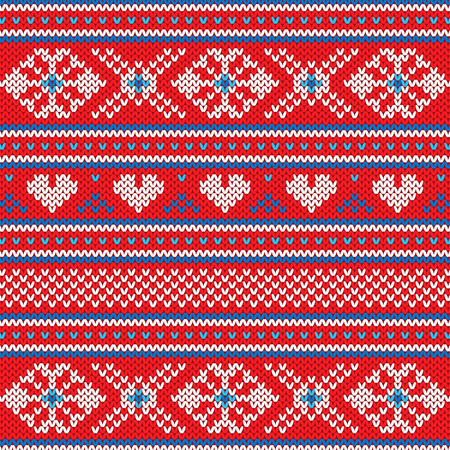 Ugly Sweater Christmas Party Flat style vector background Ilustração