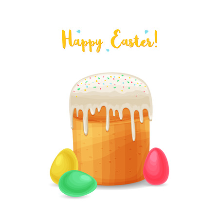 Easter holiday background cartoon style Imagens - 90815963