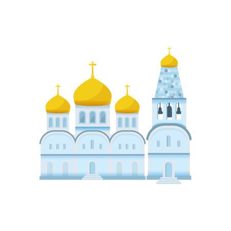 Vector illustration of colorful flat style religious building Ilustração