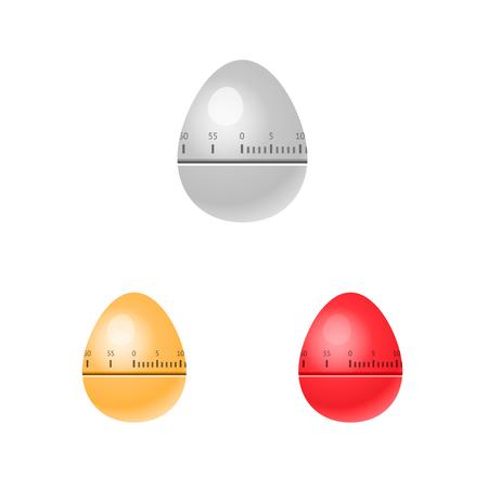 Illustration of egg kitchen timers isolated background Ilustração