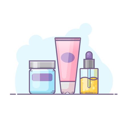 Skin care bottles icon. Imagens - 92168250