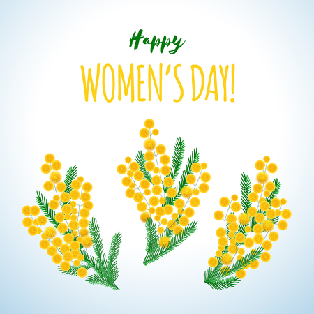 Spring wreath of the brightest yellow flowers for international women day Imagens - 117108271