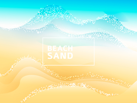 vector summer inspirational background - on top view sea with sand background Imagens - 124351415