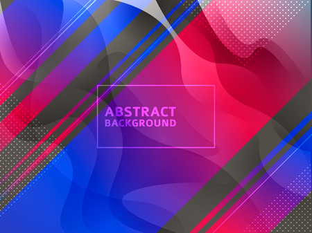 Vector minimalistic colorful background in bright trend colors Lines gradient halftone Imagens - 124351419