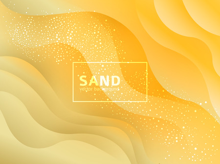 Abstract sand and beach summer background with paper waves for banner, invitation, poster or web site design. Paper cut style, 3d effect imitation. Imagens - 124288976