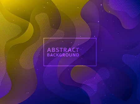 Fluid poster cover with modern ultraviolet color