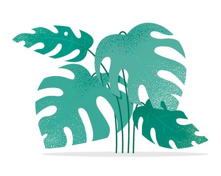 Fantasy flat design of modern leaves and plants Ilustração