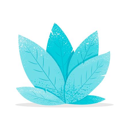 Modern flat design of fantasy mint leaves
