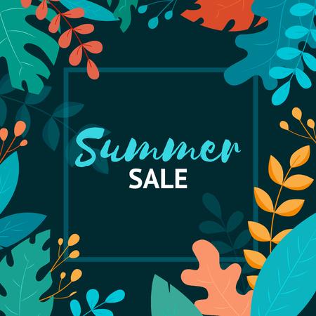 Summer sale banner. Summer Sale poster design for print or web. Ilustração